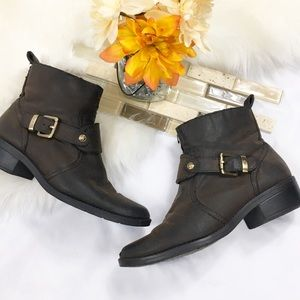 🎇 Anne Klein Brown Booties/boots Sz 7